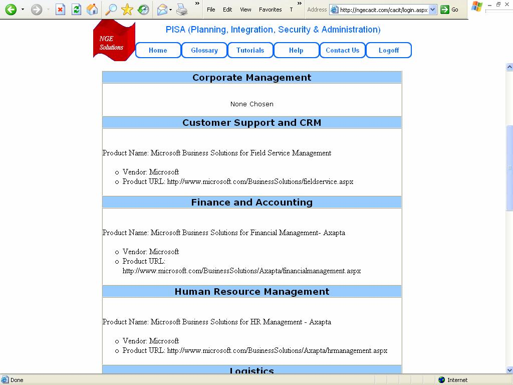 The following screenshot shows the summary of Application Plan produced by the Application Advisor.