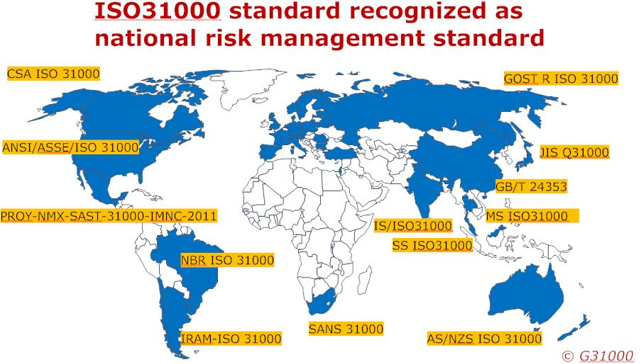 About ISO 31000 Internationally-recognised reference International consensus single global reference for stakeholders wide application umbrella for more