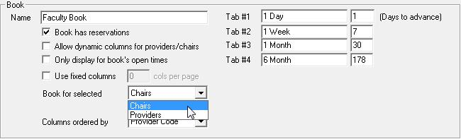 A single click into an available (yellow) area of the Active tab starts the appointment creation process. The appointment start time will be based on the time block that the user clicked in.