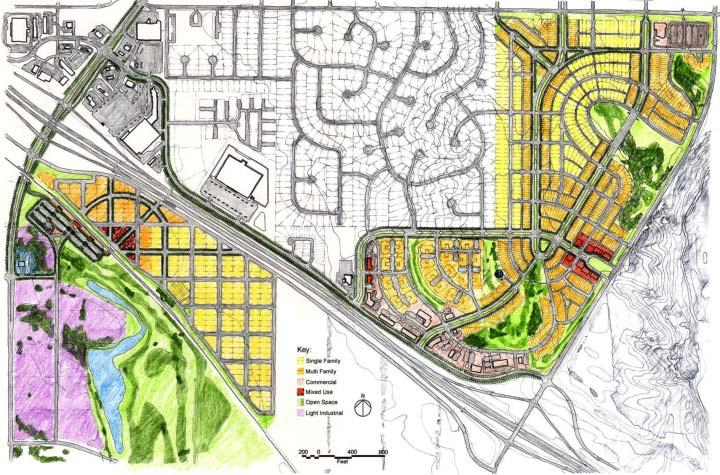 Inter/Multimodal Access to Station Area Commuter Rail Oriented Development & Station area at