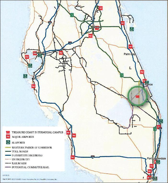 Florida Inland Port Existing regional