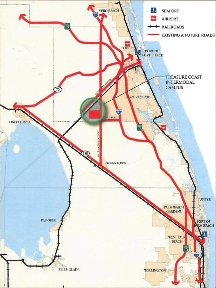 FLORIDA INLAND PORT Market Area
