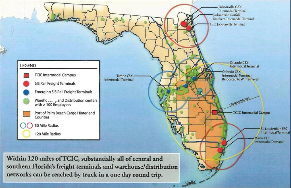 Florida Inland Port Florida distribution