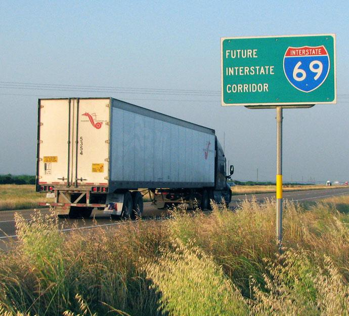 along I-69, particularly in the Laredo,