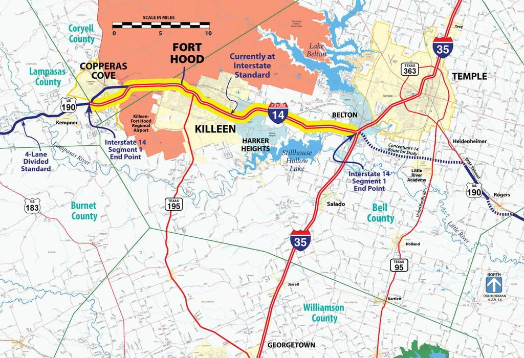 Interstate 14 Can Begin Here SEGMENT 1 30 Miles of Existing Freeway from Copperas Cove to I-35