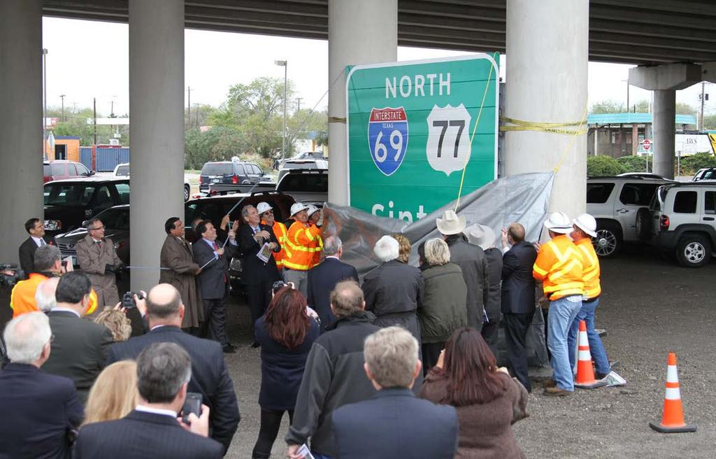 Milestones: First I-69 Section Signed (2011)