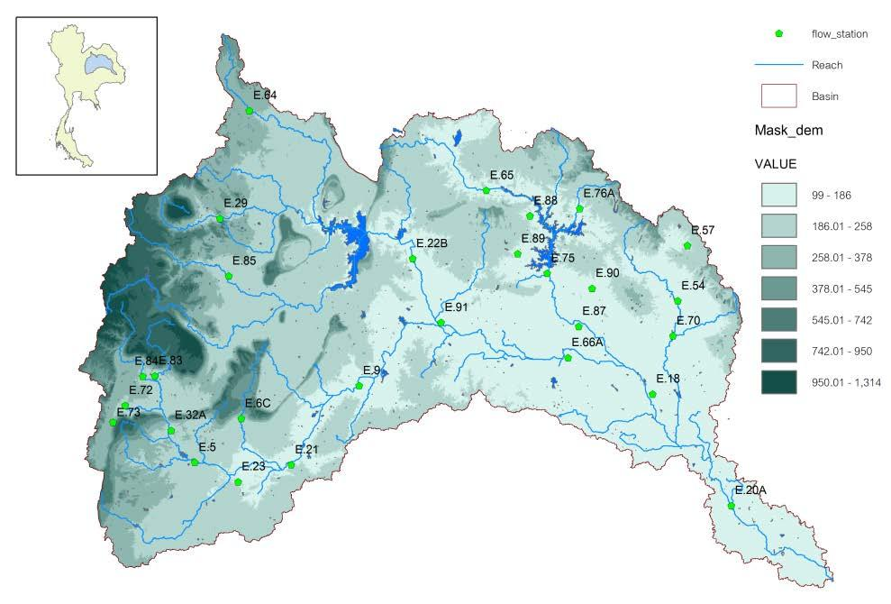 Study area Total catchment Area: 49,477 km 2 (60 % rainfed agricultural area ) Most area is high plateau ( steep at the upstream mountain area and flat at the lower part ) the tropical monsoon region