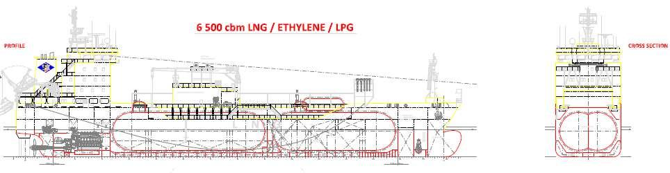 Newbuilding Coral Anthelia 6,500 cbm LNG/LPG/Ethylene carrier NB available 1H2013 High/low manifold