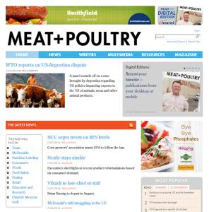 CHANNELS MEAT & POULTRY MAGAZINE MEAT & POULTRY E-NEWSLETTERS MEAT & POULTRY WEBSITES 6 Issues in the period 24,335 average circulation 5 E-Newsletters in the