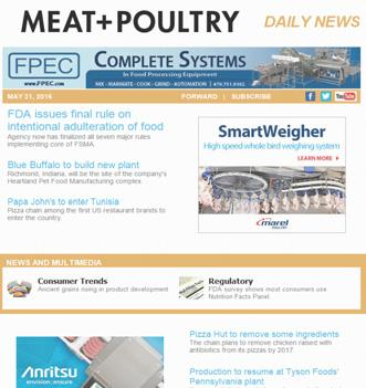 Non-Requested 452-452 MEAT + POULTRY E-NEWSLETTERS a. Morning Dispatch (126 issued in the period) 25,234-25,234 b. MeatPoultry.