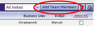 Host/Co-Hosts>Define Team Defining Team Members allows for event collaboration and shared responsibility with other users within the buyer organization.