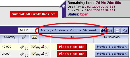 Business Volume Discounts, continued Business Volume Discount - A Business Volume Discount (BVD) permits a bidder to specify discounts for different awards that exceed particular dollar thresholds.