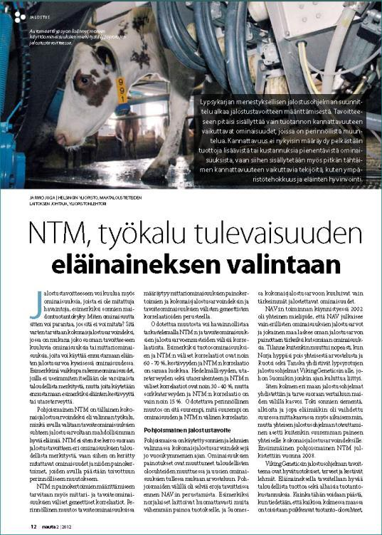Finnish NTM promotion in 2012