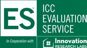 0 Most Widely Accepted and Trusted ICC ES Evaluation Report ICC ES 000 (800) 423