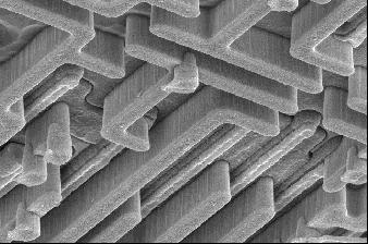 SEM Micrographs of Polysilicon, Tungsten LI and Tungsten Plugs Tungsten LI Polysilicon