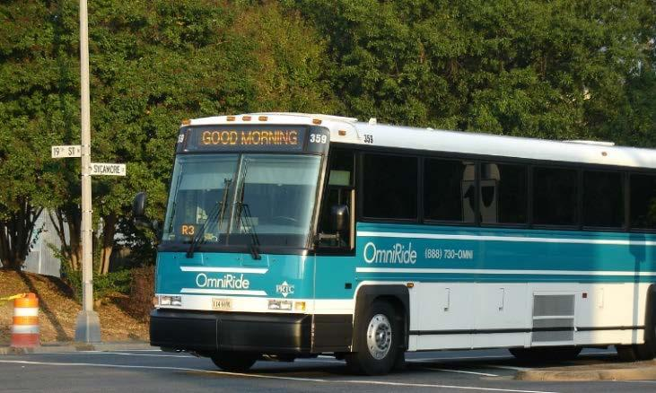 Transit/TDM Benefits, Costs, and Funding Anticipated Benefits Increased number of one-seat bus rides to destinations in the greater Northern Virginia region Reliable, predictable bus transit travel