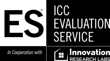 0 Most Widely Accepted and Trusted ICC-ES Evaluation