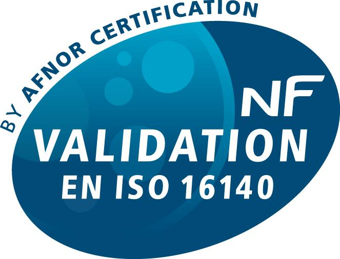 NF VALIDATION by AFNOR CERTIFICATION as per EN ISO 16140 protocol The RAPID'Salmonella method has been certified NF VALIDATION as alternative to reference method NF EN ISO 6579, according to the ISO