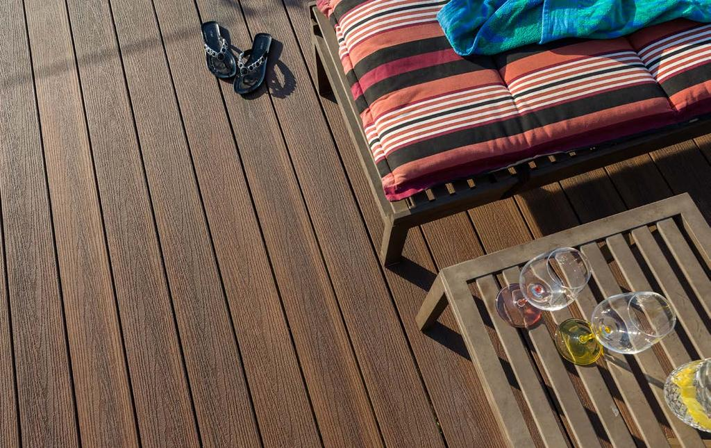 SOLID BOARDS TIGER COVE SPANISH SAFFRON Infinity TM co-extruded composite decking SAPPHIRE SILVER Introducing Infinity TM ; the latest in bamboo-plastic composite innovation from Eva-Last.