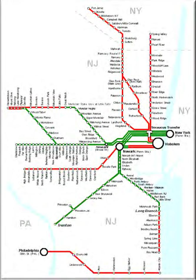 NJ TRANSIT SYSTEM The nation s largest statewide public transportation system with: 10