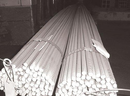 CONCRETE REINFORCING BARS STOCK LENGTHS 20', 40' MATERIAL AVAILABLE IN GRADES 40 AND 60 Bar Number 3/8 Rd. 3.376 1/2 Rd. 4.668 5/8 Rd. 5 1.043 3/4 Rd. 6 1.502 7/8 Rd. 7 2.044 1 Rd. 8 2.670 1-1/8 Rd.