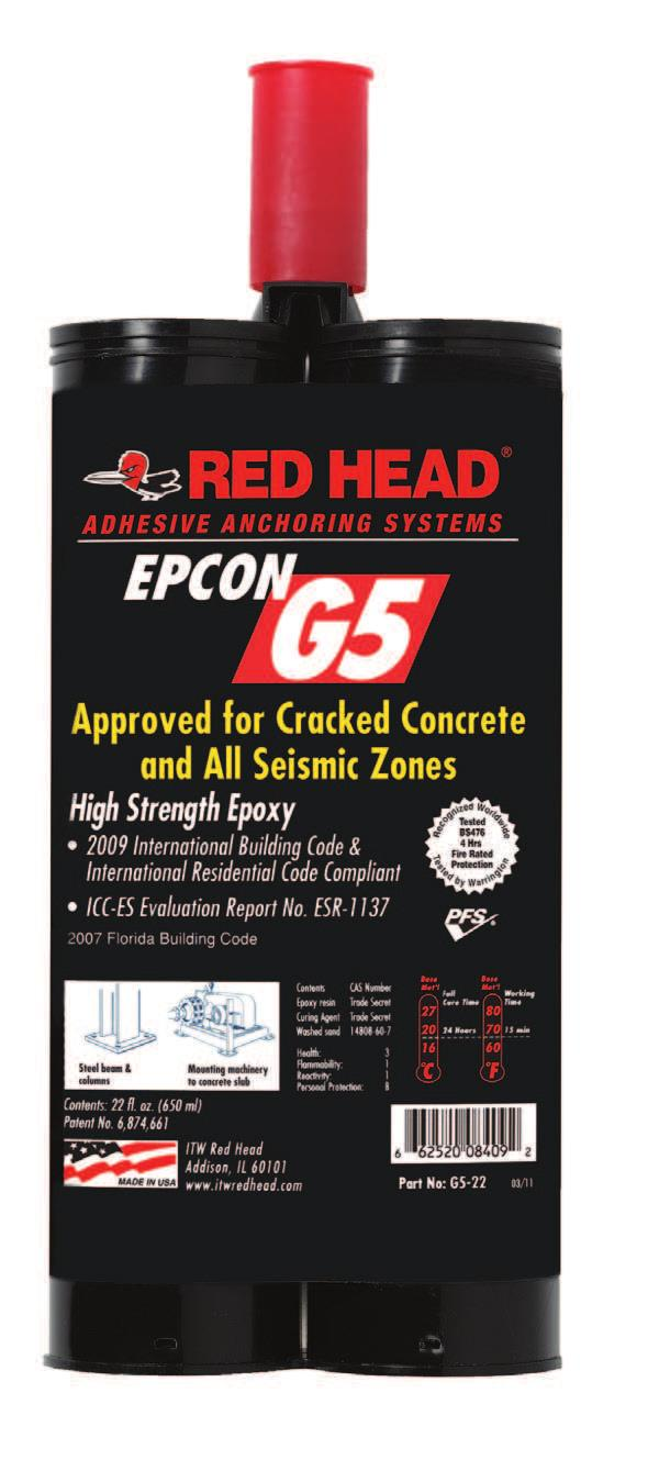 Category 1 performance rating. For use in uncracked, cracked concrete and seismic applications.