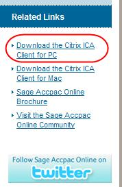Installing the Citrix client You will get the following screen