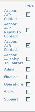 A/R or A/P Contacts (on the Person edit screen) A/R or A/P Addresses (on the Address edit screen) When a person is an Accpac A/P Contact, A/P Remit-To Contact, A/R Contact, or A/R Ship-To Contact,