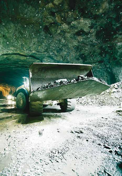 MINING The mining industry consists of a great deal of material extracting, crushing and transport.