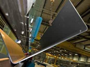 BENDING Raex abrasion resistant steel is well suited for free and roll bending, thanks to its uniform properties such as narrow thickness tolerances and smooth surface.