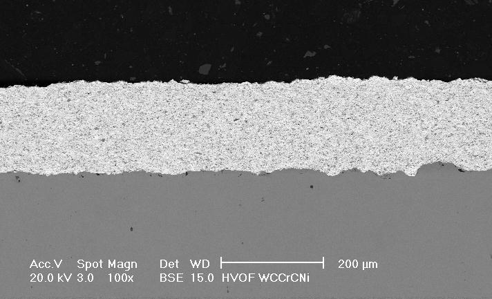 The SEM micrographs of the coatings at low magnification (the left side from Fig 3 and 4) revealed a good bonding of the coating to the steel substrate.