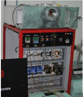 ii) Pumping out method. i) Direct edge sealing within the vacuum furnace: The process of edge sealing is performed in a high vacuum stainless steel chamber with an infrared lamp heating system.