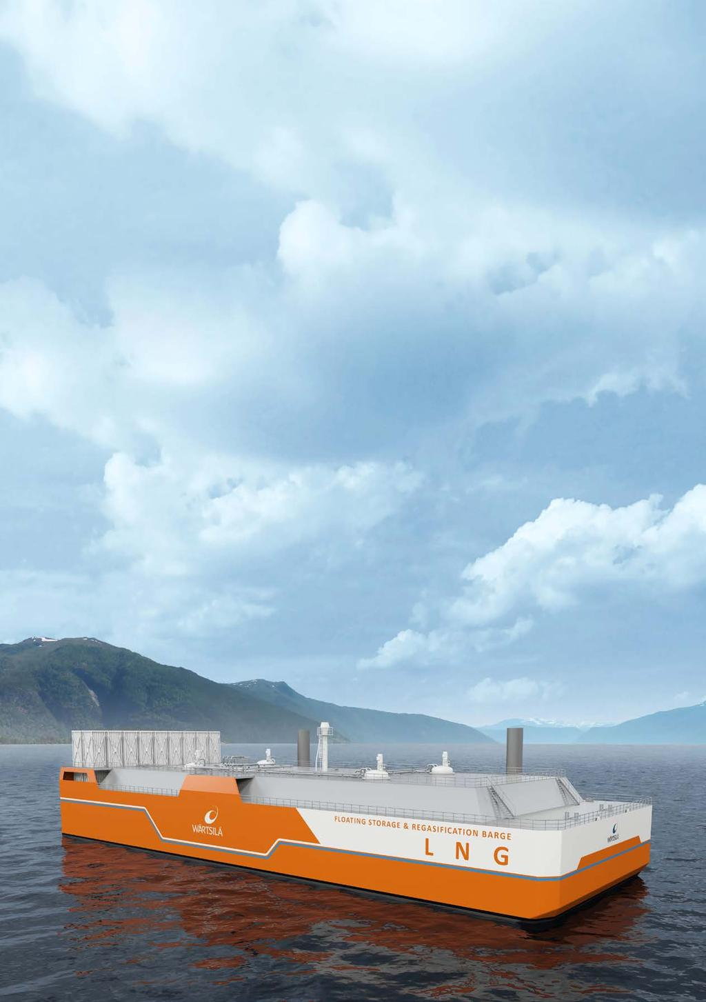 Floating storage and regasification barges A FLEXIBLE AND MOVABLE SOLUTION