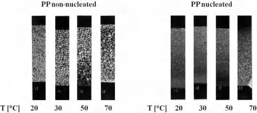 36.7 Influence of Nucleation of PP on Processing and Characteristics 275 broad MWD narrow MWD yield stress elongation E-modulus transparency shrinkage thermoforming range Figure 36.