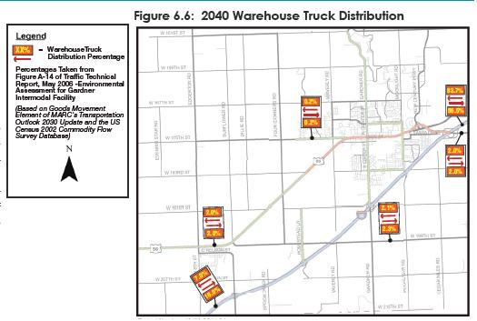 I-35 Truck Traffic Generation - LPKC Truck Traffic examined for both LPKC Intermodal and LPKC Distribution Warehouses Data based on documentation