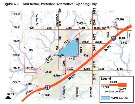 Total Traffic Opening Day Sunflower Road count remains constant (YR