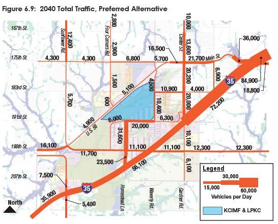 Total Traffic - 2040 Homestead/191 remain preferred route for LPKC Growth in