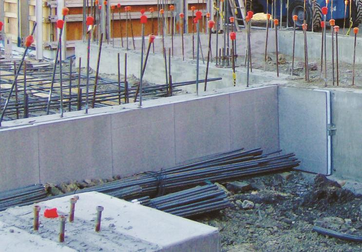 WallGUARD panels protect and insulate the exposed area of foundations, slab edges, rim joists and other perimeter wall areas.