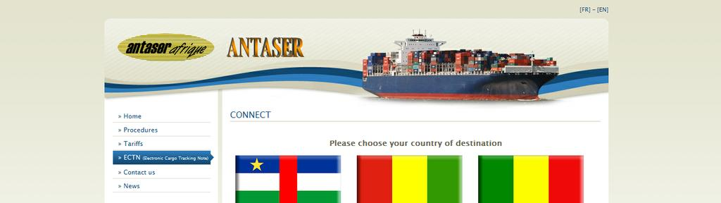 ECTN: Electronic Cargo Tracking Note User Manual The Antaser website www.antaser.