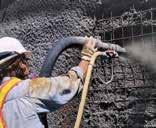 Crystalline Technology into new concrete structures for building foundations.