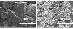 The aim of this work was primarily to produce and characterize particles of respirable size containing Meloxicam (MEL) and additives, by using wet milling combined with a spray-drying process.