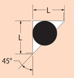 Crush Seal 45 DEGREE ANGLE L = 1.