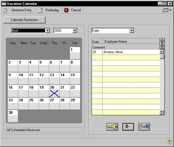 PART 3 EMPLOYEE ATTENDANCE Use the hide and show buttons to view additional information in the scrolling window.