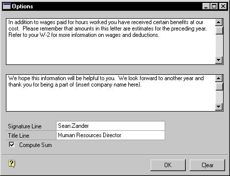 CHAPTER 21 TOTAL COMPENSATION 3. Choose Calculate to display employee records in the scrolling window. 4.