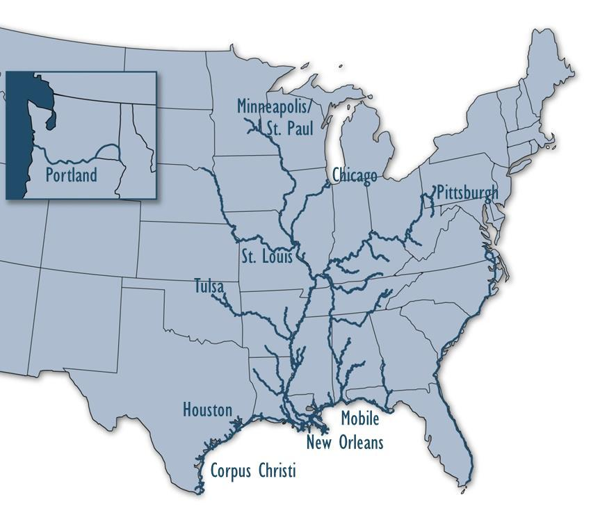 Inland/Coastal Waterways 12,000 miles of navigable waterways 240 lock sites