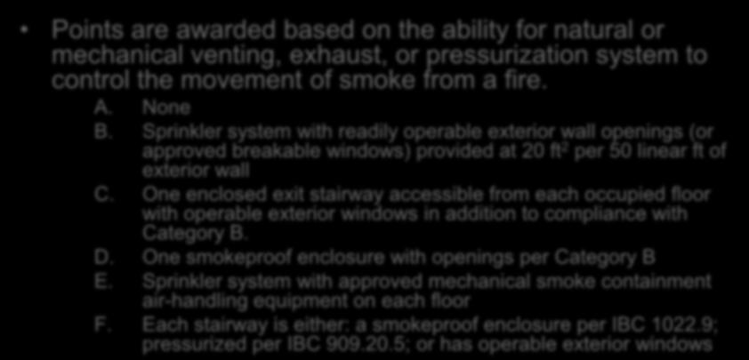 Evaluation Smoke Control Section 1301.6.