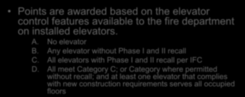 Evaluation Elevator Controls Section 1301.6.