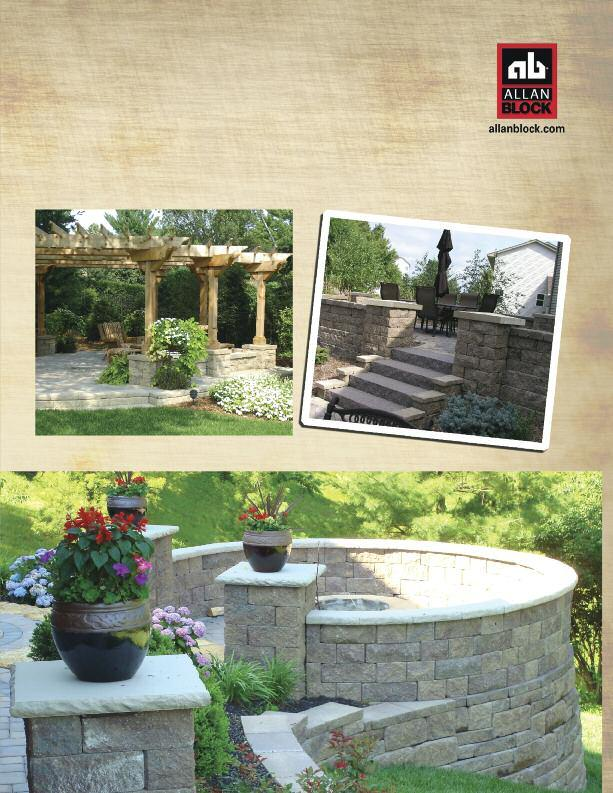 Retaining Walls, Courtyard and Pavers The Allan Block line of retaining wall products and the AB Courtyard Collection work perfectly together in matching colors and