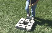 INSTALLING ON SOIL Step : Layout Determine the location of the post/pillar and lay the first course of