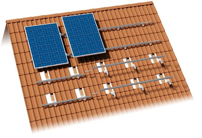 Photovoltaic Mounting Systems Assembly Instructions PITCHED ROOF for roofing tiles,